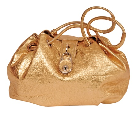 golde: golde bag isolated on white Stock Photo