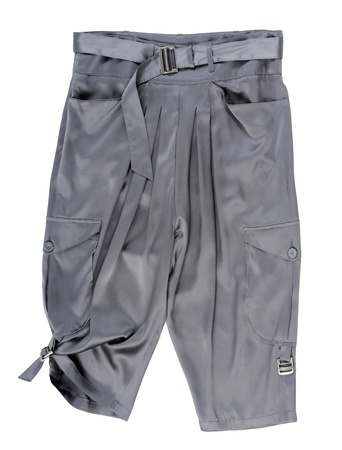 'rig out': gray shorts isolated on white