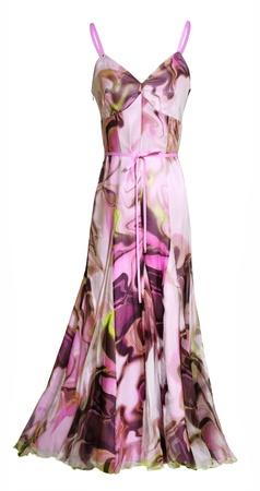 sundress: pink sundress isolated on white