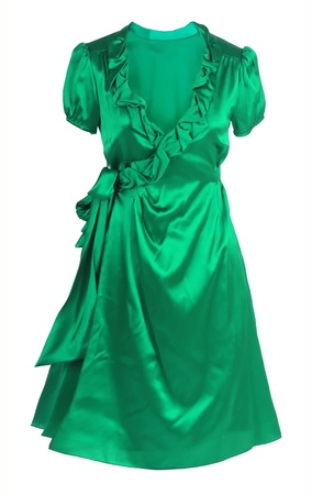 vestment: green dress isolated on white