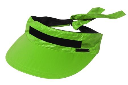 visor: green visor isolated on white