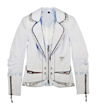 'rig out': women jacket isolated on white