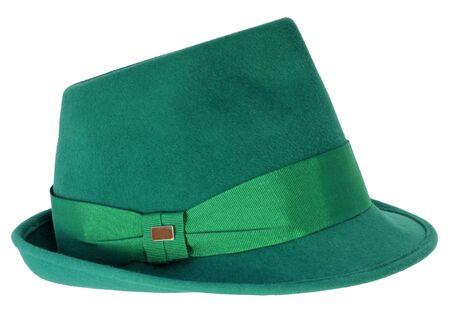 velvet ribbon: velvet hat isolated on white