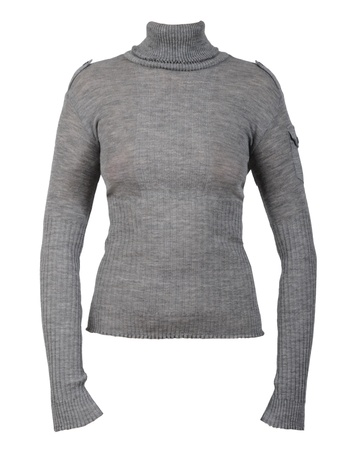 gray sweater isolated on white photo