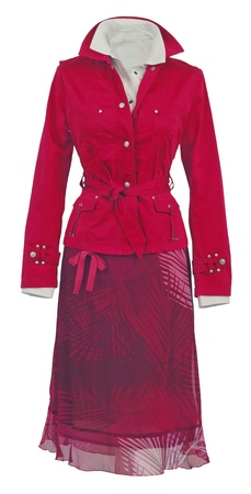 red jacket and skirt  photo