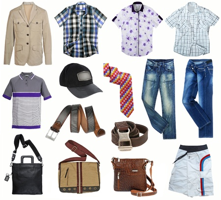 male fashion clothes collection photo