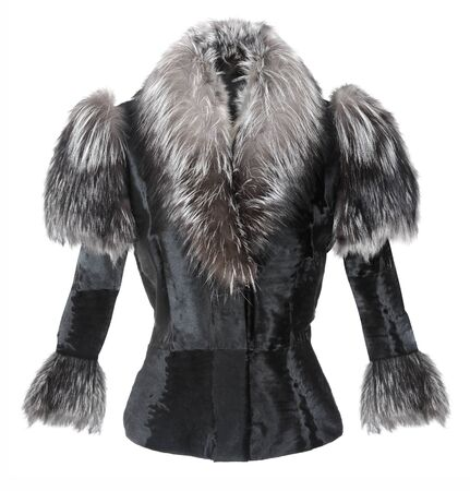 fashion fur jacket photo