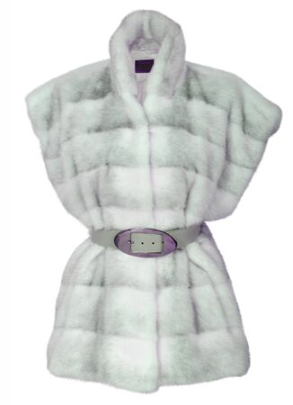 woman in fur coat: fashion fur coat