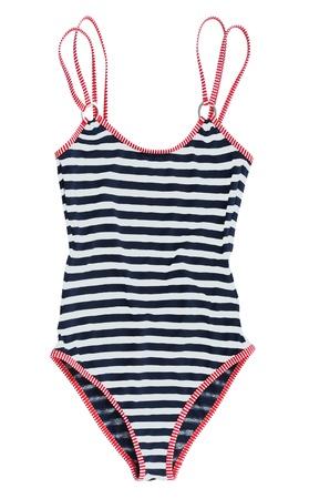 bathing costume: striped swimsuit Stock Photo