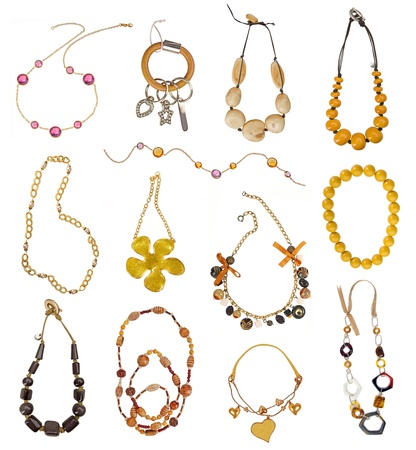 collection of gold necklaces photo