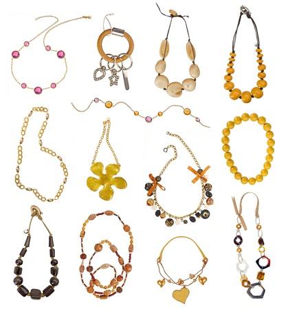 Sammlung von Gold-Ketten