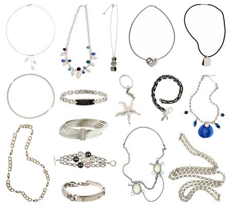 Sammlung von Silberschmuck