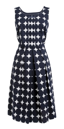 habiliment: dress with polka dots