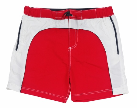 elastic garments: red shorts Stock Photo