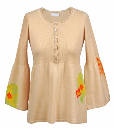 beige blouse photo