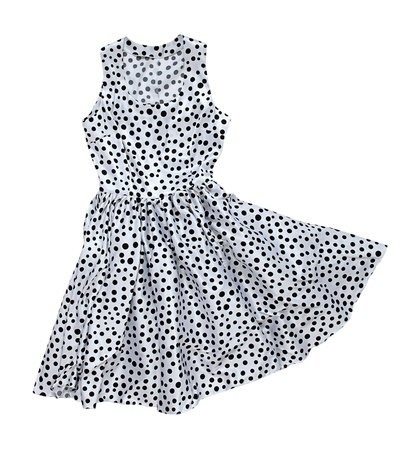 habiliment: dress with polka dot