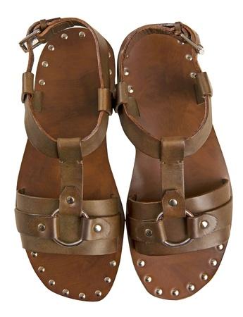 foot ware: brown sandal