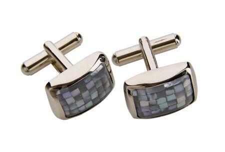 wrist cuffs: fashion cufflinks Stock Photo
