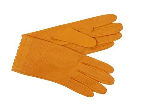 orange gloves photo