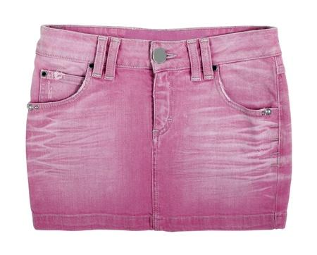 mini skirt: jupe de jeans