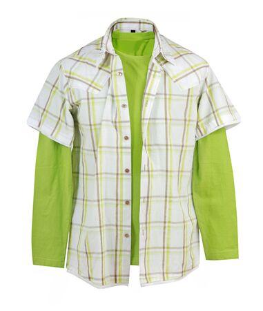 checkered polo shirt: green shirt