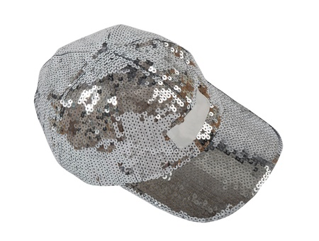 silver peaked cap photo