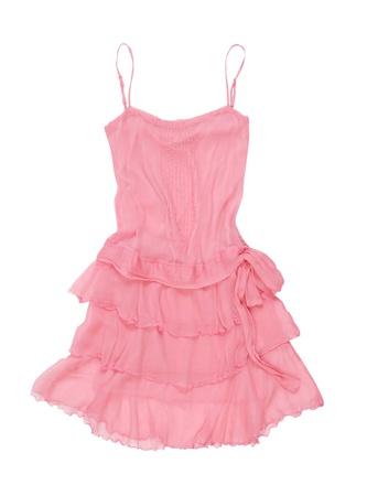 transparent dress: pink sundress