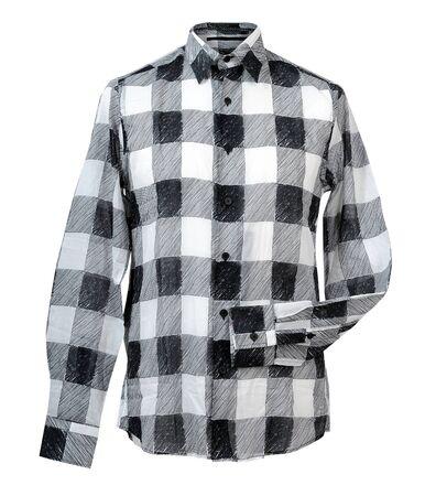 checkered polo shirt: checkered shirt Stock Photo