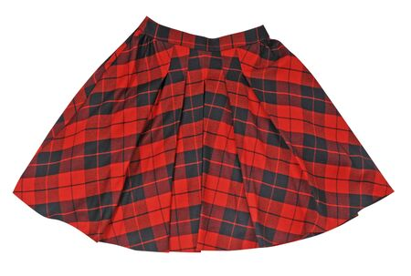 checkered skirt: checkered skirt