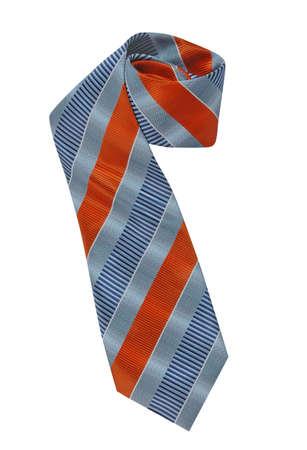 neckcloth: blue striped tie