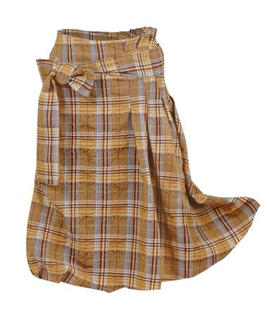 checkered skirt: checkered skirt