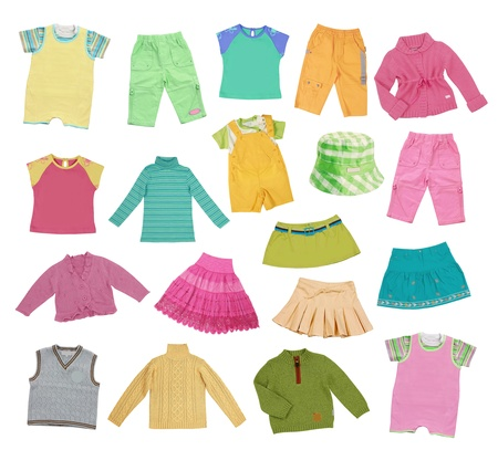 collection of children clothing Stock Photo