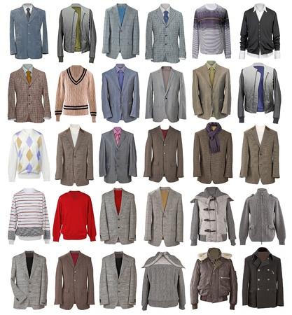 ropa de invierno: colecci?e chaquetas de los hombres