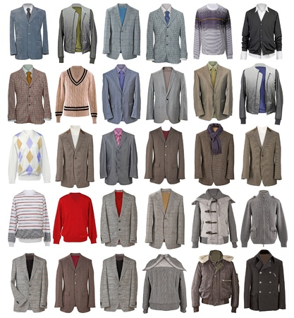 collection of men jackets
