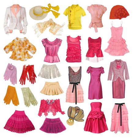 collection of women clotes