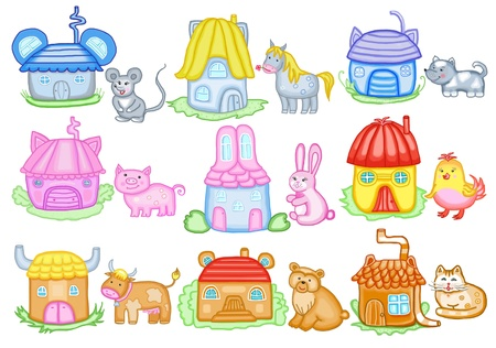 animals and their houses photo