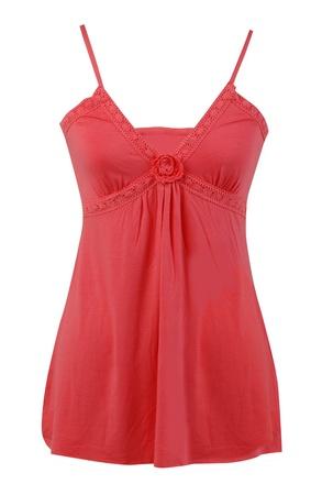 peignoir: red peignoir