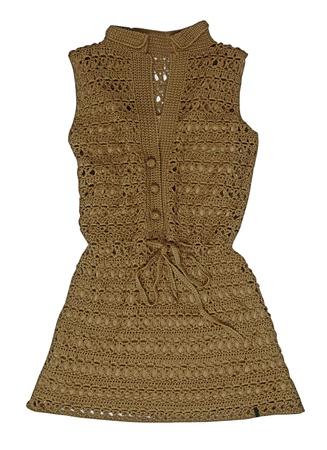 knitten: brown dress