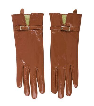 furskin: brown gloves