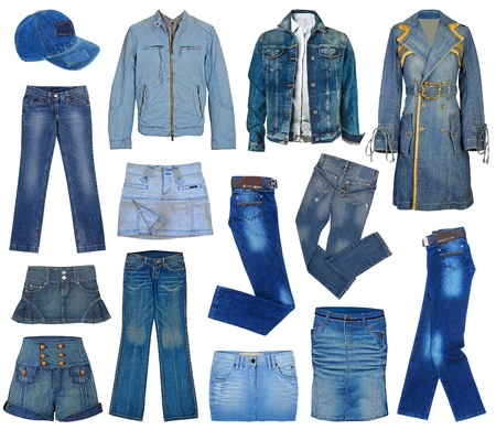 set of fashion jeans