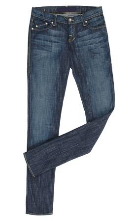 worn jeans: blue jeans