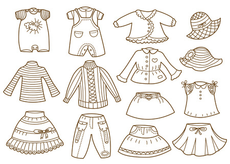 bambin: collection de v?tements pour enfants Illustration