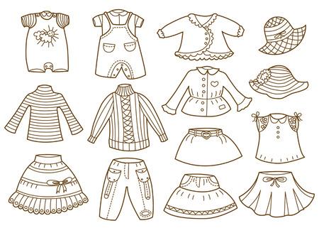 pullover: Sammlung von Kinderkleidung