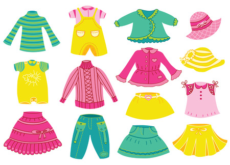 baby clothes: collection of children clothes