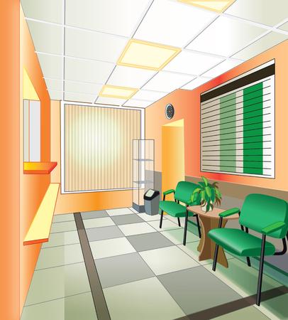 interior de hospitales (ilustración vectorial)