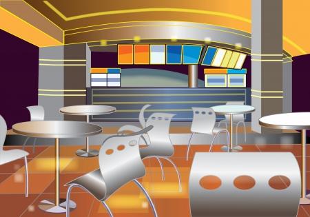 bar interior: Interior of a modern bar (vector illustration)