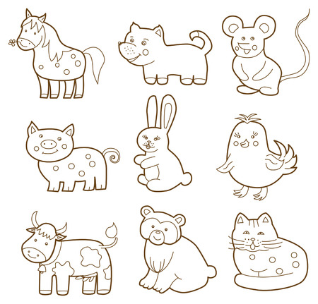 vector animal  coloring book  Vector
