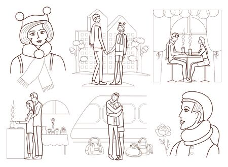 Love story  coloring book