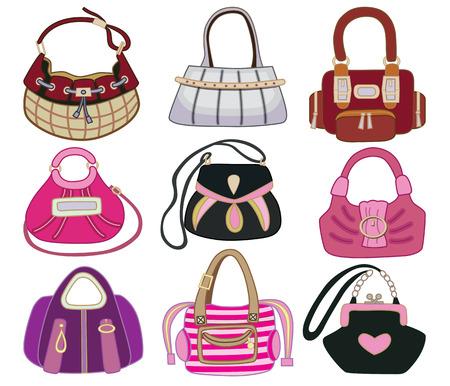 collection og fashion handbag  vector illustration  Illustration