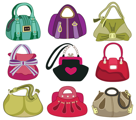 collection og fashion handbag  vector illustration  Vector
